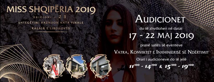 Miss Shqiperia 2019 Audicione